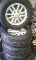 "17"" Toyota Hilux/Fortune Silver Twin spoke With New Bridgestone Duelle"