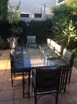 10 Seater Patio Set Including Side Server Table
