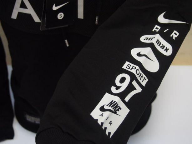 NIKE Czarny dres męski spodnie bluza AIR MAX S XXL Kanie