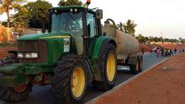 Two John Deere 6820 Tractors with 10000L Tanks For Sale
