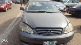 Corolla 2003 for sale 3 months used from uber transport