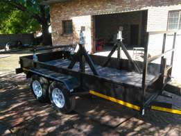 Custom double axle trailer