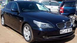 2009 Blue BMW 5 series.