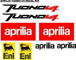Tuono V4 aprilia bike decals stickers sets