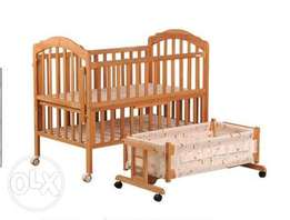 Solid Wood Baby bed plus Cot