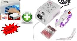 Professional Manicure Pedicure Combo kit! Nail drill kit+UV Lamp Combo