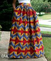 African Printed maxi skirt