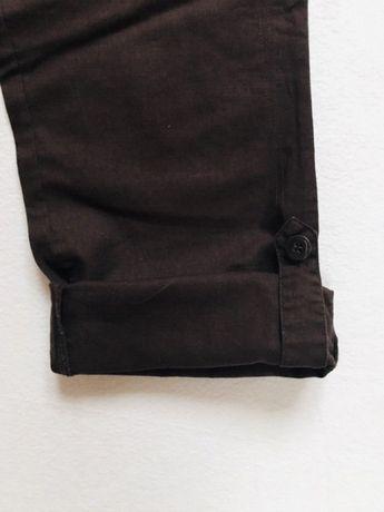 101394c27c2277 Tchibo spodnie damskie 36 len bawełna brązowe podwijane nogawki Hornówek -  image 6