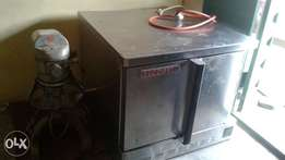Electric and Gas industrial oven and mixer.