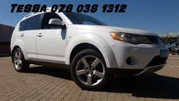 2007 Mitsubishi Outlander 2.4 GLS Auto AWD Great condition Contact Tes