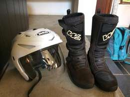 Brown W2 dirt adventure off road motorcycle boots