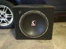 "15"" old school kicker subwoofer. Still water design air free in box."