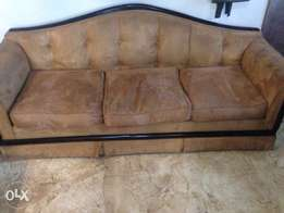 Suede 6 seater couches