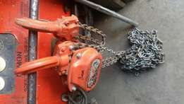 Ex uk Tiger chain blocks available from 1.5 T ,3T and 5 T