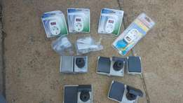 Various 2 point plugs and outdoor sockets