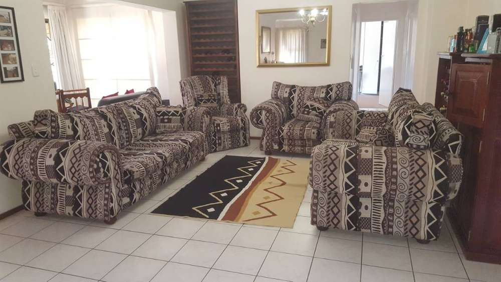 Lounge Suite 4 Piece + Mirror   African Inspired Design 0