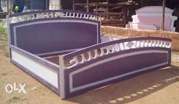 Modem Bed with mirror and bedside drawer