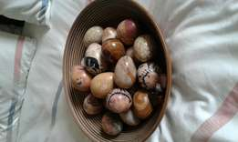 African (Kenyan) marble eggs and bowl