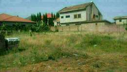 Walled and titled 4 plots for sale at Botwe lake side.
