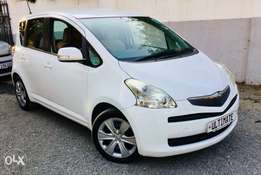 toyota ractis special offer 1300cc 2010 model just arrived 799,999/=