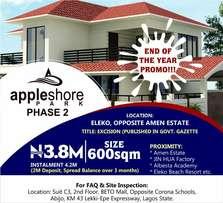Plots of land for sale directly opposite Amen Estate, Eleko