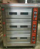 commercial 6 tray 3 deck oven