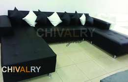 8 Seater U shaped Couch in PU Leather for only R5199.00