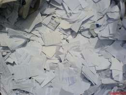 White waste papers