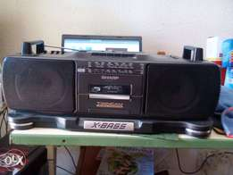 Sharp Twincam Xbass Tape Radio