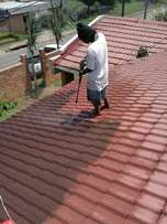 RJ's Roof cleaning services.