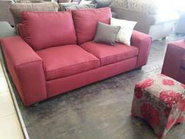 Red 3 Piece Couch