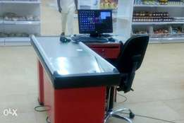Non-Rolling L-Shaped & U-Shaped till table\Cashier table/ Check-Out co