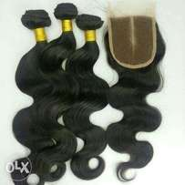 "Brazilian n peruvian 16"" with closure R2400"