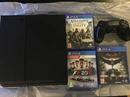 PS4 500gb with 3 games