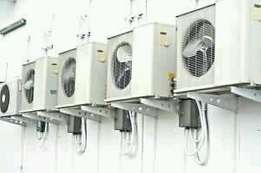 Aircon installation and service on-site