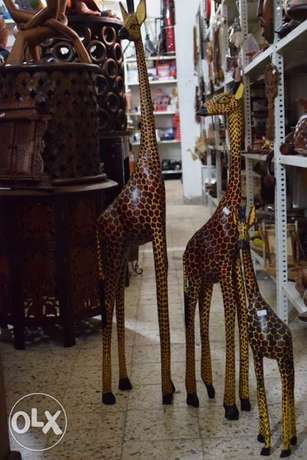 giraffe Africa solid wood set of 3 pieces