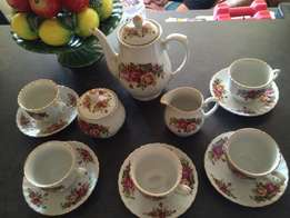 English rose tea set at reduced price