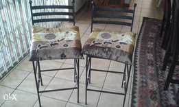Designer Iron Bar / breakfast nook chairs