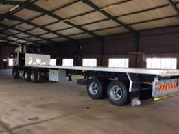 MAN 440hp Truck , Crane and new Afrit trailer for sale. Immaculate con