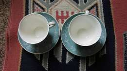 Royal doulton cup and saucer x2 (pp001/111)