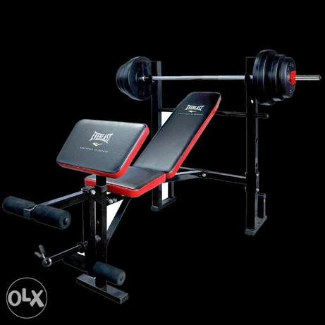 Weight bench with stands