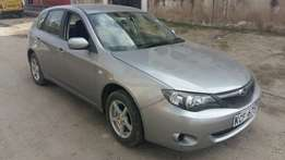Subaru Impreza silver in colour