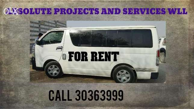 Toyota hiace 15 seater bus for rent