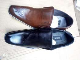 Office shoes leather in coffee brown & black all sizes available