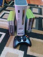 Xbox 360, 7 Games, Wireless Controller and Cables