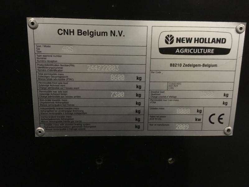 New Holland Bb9060 Rotor Cutter - 2009