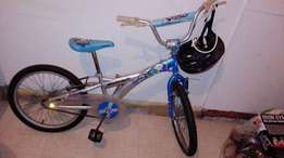 Raleigh Bicycle with helmet