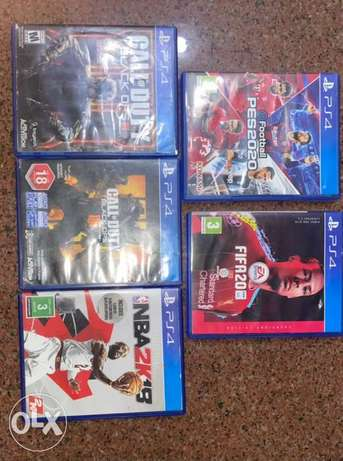 call of duty ops 3 /call of duty ops 4/fifa20 edition/NBA 2k 2018/ pes