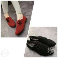 Ladies Side Lace-up Shoes (suede)