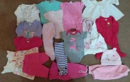 0 - 3 months for Girls clothes ext 36 Items all for R450